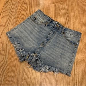 KANCAN High Rise Stretch Jean Shorts